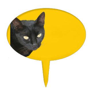 Gato negro aislado figuras para tartas