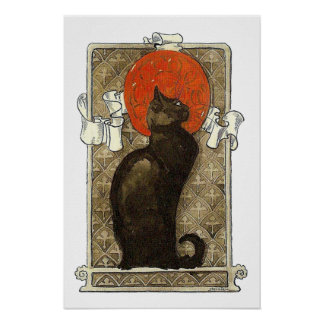 Gato negro, Alejandro Steinlen Póster