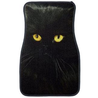 Gato negro alfombrilla de auto