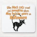 Gato negro alfombrillas de ratón
