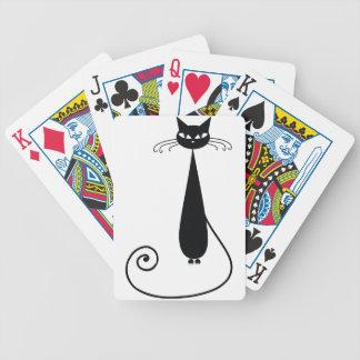 Gato negro cartas de juego