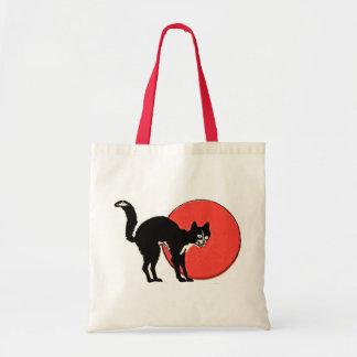 Gato negro bolsa de mano
