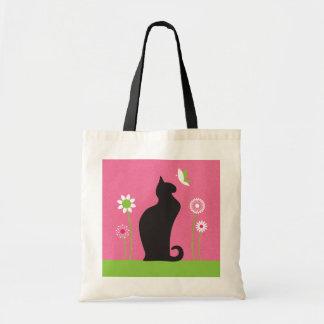 Gato negro bolsa tela barata