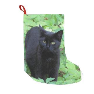 Gato negro calcetín de navidad pequeño