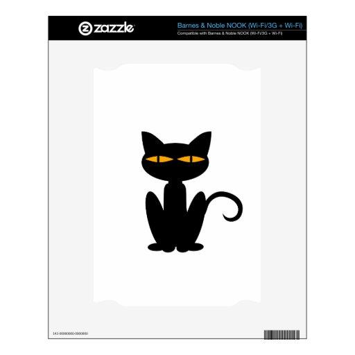 Gato negro calcomanía para el NOOK