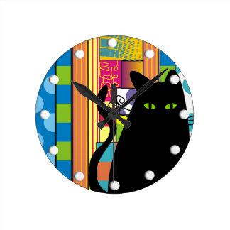 Gato negro caprichoso el gato gordo reloj