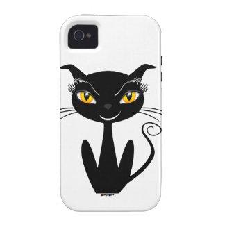 Gato negro caprichoso iPhone 4/4S funda