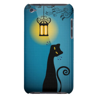 Gato negro carcasa para iPod