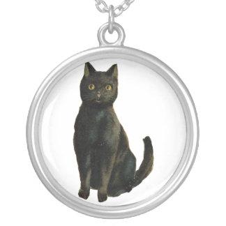 Gato negro collar
