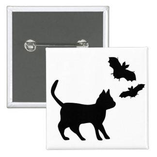 Gato negro con murciélago pin