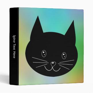 """Gato negro, con un fondo de los colores del arco carpeta 1"""""""