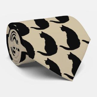 Gato negro corbata personalizada