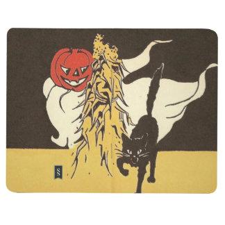 Gato negro Cornstalk del fantasma de la linterna Cuadernos Grapados