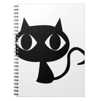 Gato negro cuaderno