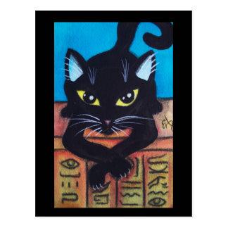 Gato negro de Egipto Tarjeta Postal