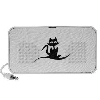 Gato negro de Halloween Notebook Altavoces