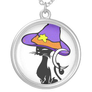 Gato negro de Halloween Colgante Personalizado