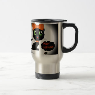 Gato negro de Halloween del animado Taza De Café