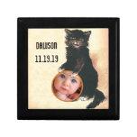 Gato negro de HALLOWEEN del vintage Caja De Regalo