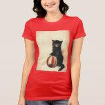 Gato negro de HALLOWEEN del vintage Camiseta
