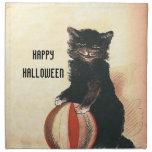 Gato negro de HALLOWEEN del vintage Servilletas De Papel
