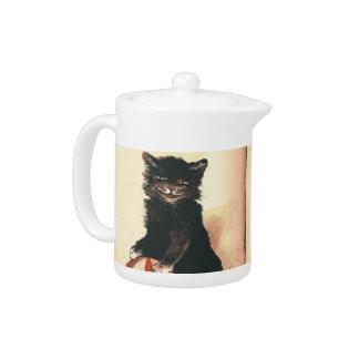 Gato negro de HALLOWEEN del vintage