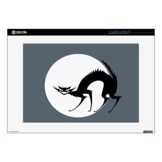 Gato negro de Halloween en el claro de luna Calcomanía Para 38,1cm Portátil