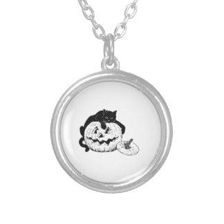 Gato negro de Halloween en la calabaza Grimpola Personalizada