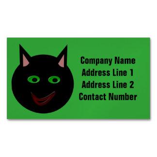 Gato negro de Halloween personalizado Tarjetas De Visita Magnéticas (paquete De 25)