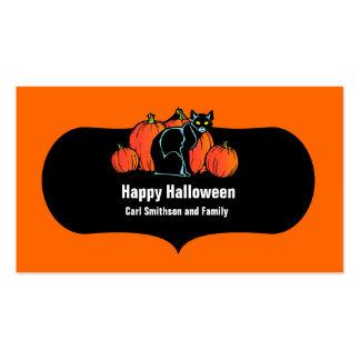 Gato negro de Halloween Tarjeta De Visita