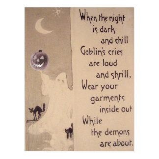 Gato negro de la calabaza de la linterna de Jack O Tarjetas Postales