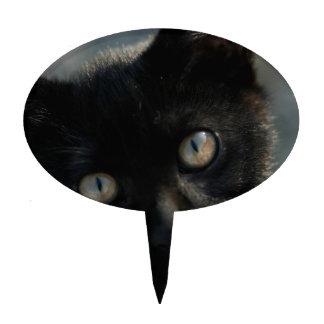 Gato negro de la EEK asustadizo Decoraciones Para Tartas
