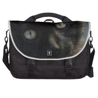 Gato negro de la EEK asustadizo Bolsas De Portatil