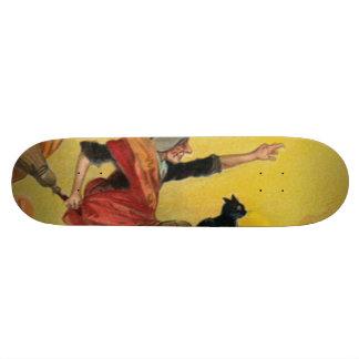Gato negro de la escoba del vuelo de la bruja patinetas personalizadas