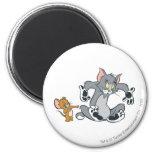 Gato negro de la pata de Tom y Jerry Imán Redondo 5 Cm