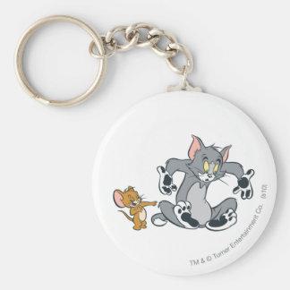 Gato negro de la pata de Tom y Jerry Llavero Personalizado