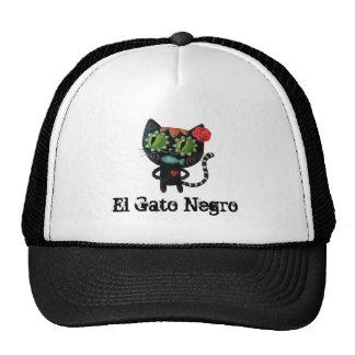 Gato negro de los muertos gorro