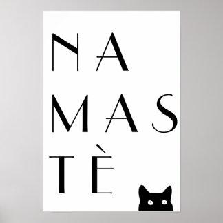 Gato negro de Namaste Póster