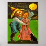 Gato negro de Sr. y de señora Pumpkin With Their Poster