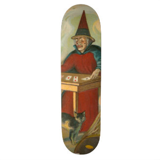 Gato negro de Tarot de la bruja Skate Boards