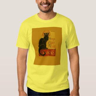 Gato negro de Tournee de Chat Noir Camisas
