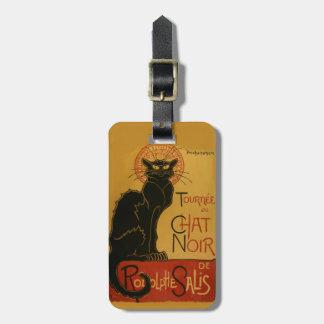Gato negro de Tournee de Chat Noir Etiqueta Para Maleta