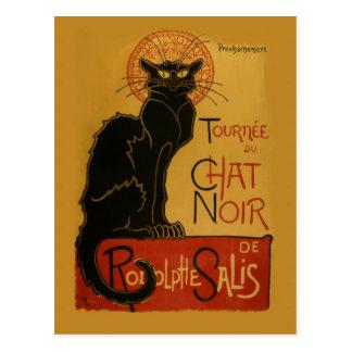 Gato negro de Tournee de Chat Noir Postales