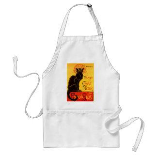 Gato negro de Vintage Tournee de Chat Noir Delantal