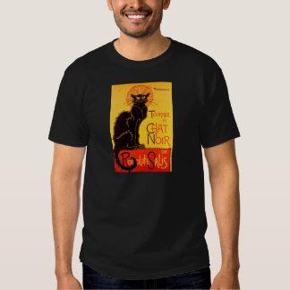 Gato negro de Vintage Tournee de Chat Noir Playeras
