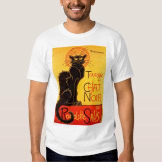 Gato negro de Vintage Tournee de Chat Noir Remera