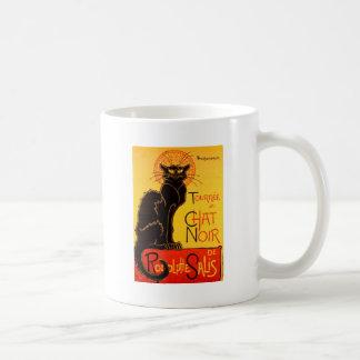Gato negro de Vintage Tournee de Chat Noir Taza
