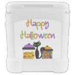 Gato negro del caramelo de Halloween