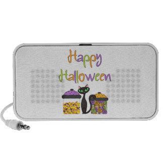 Gato negro del caramelo de Halloween Altavoces