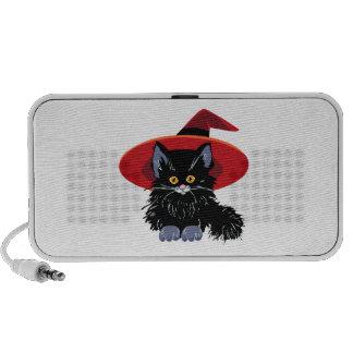 Gato negro del feliz Halloween iPod Altavoz